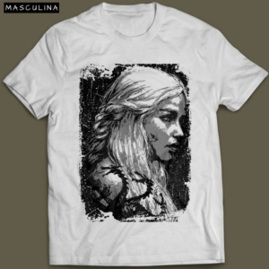 Camiseta Daenerys Targaryen Game Of Thrones Masculina Branca