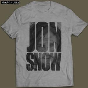Camiseta Jon Snow G.O.T Masculina Cinza Mescla