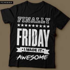 Camiseta Finally Friday Feminina Preta