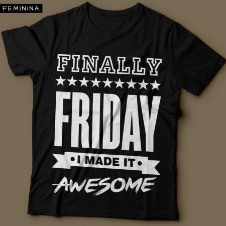 Camiseta Finally Friday Feminina Preta
