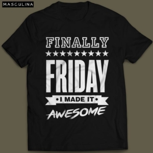 Camiseta Finally Friday Masculina Preta