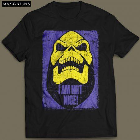 Camiseta Esqueleto He Man Masculina Preta Cover