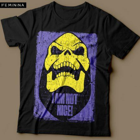 Camiseta Esqueleto He Man Feminina Preta Cover