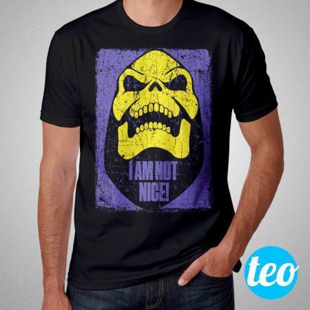 Camiseta Esqueleto He Man Masculina Preta Cover 1