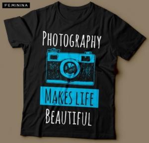 Camiseta Fotografia Photography Makes Life Beautiful Feminina Cover 2