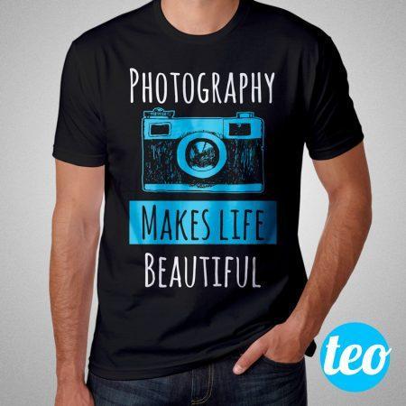 Camiseta Fotografia Photography Makes Life Beautiful Masculina Cover