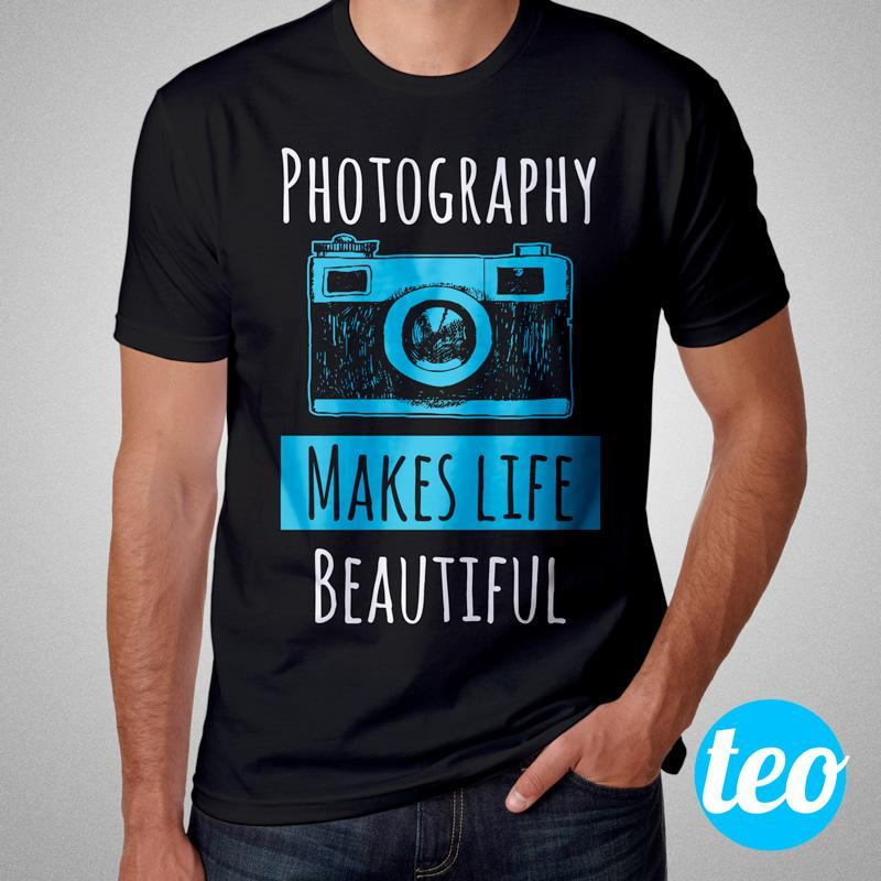 Camiseta Fotografia Photography Makes Life Beautiful Masculina Cover