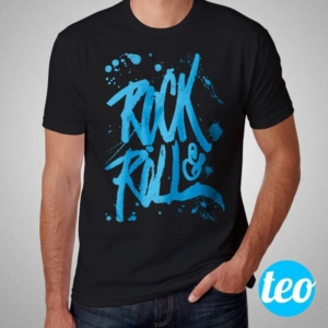 Camiseta Rock and Roll Masculina Preta Cover