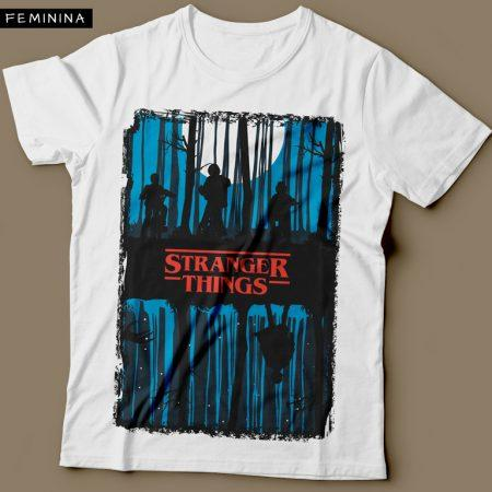 Camiseta Stranger Things Feminina Cover