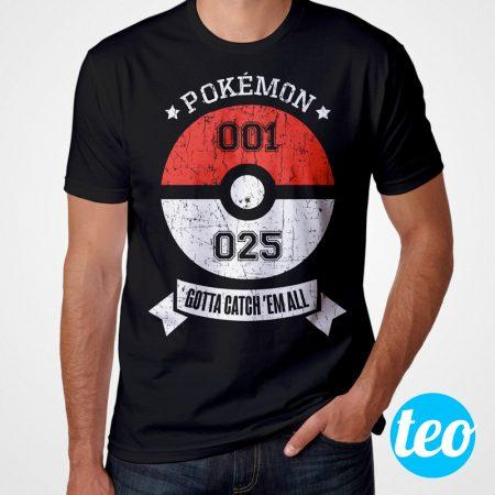 Camiseta Pokemon 001 e 025 Masculina Cover