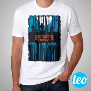 Camiseta Stranger Things Masculina Cover