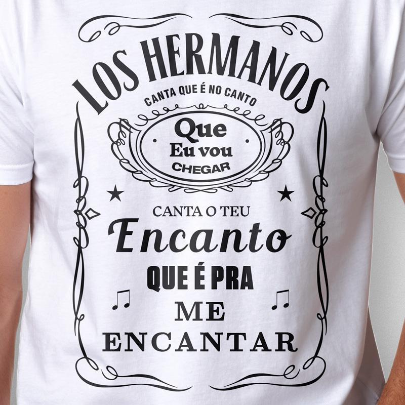 Camiseta Los Hermanos Masculina Branca Zoom