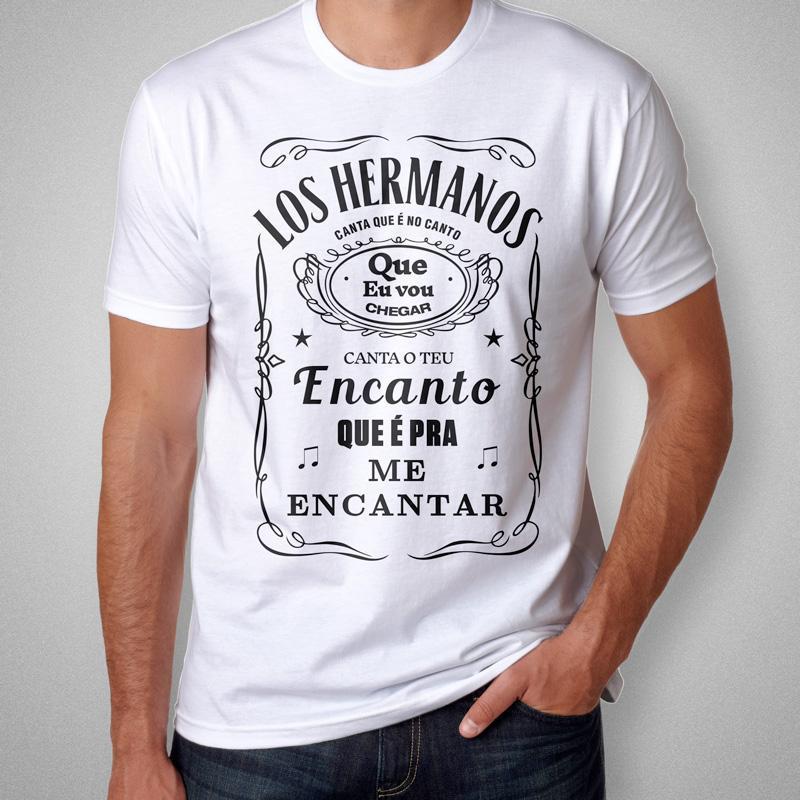 Camiseta Los Hermanos Masculina Branca