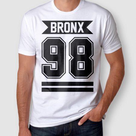 Camiseta Bronx 98 Masculina Branca