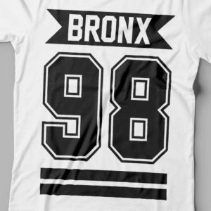Camiseta Bronx 98 Feminina Branca Zoom
