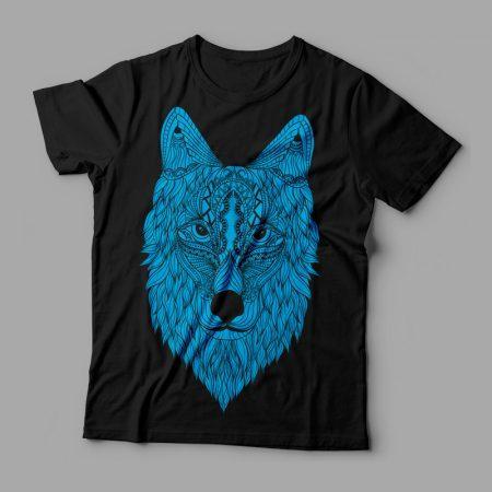 Camiseta Wolf Lobo Feminina Preta