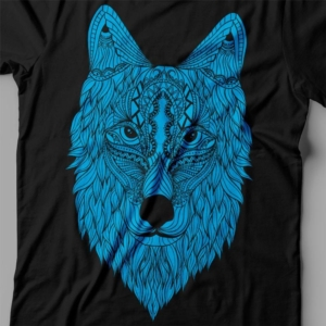 Camiseta Wolf Lobo Feminina Preta Zoom
