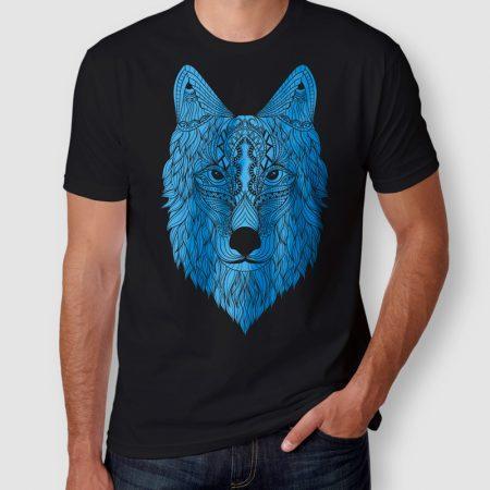 Camiseta Wolf Lobo Masculina Preta