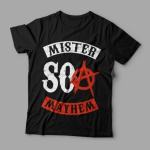 Camiseta Mister Mayhem SOA Feminina Preta