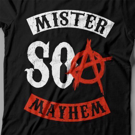 Camiseta Mister Mayhem SOA Feminina Preta Zoom