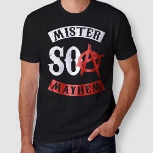 Camiseta Mister Mayhem SOA Masculina Preta