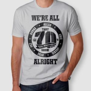 Camiseta That 70s Show Circle Masculina Cinza Mescla