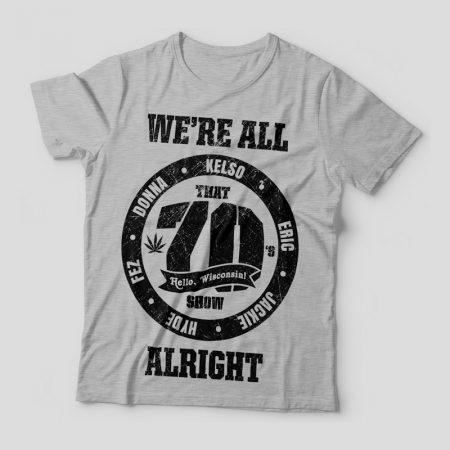 Camiseta That 70s Show Circle Feminina Cinza Mescla