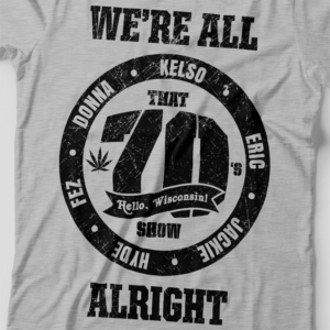Camiseta That 70s Show Circle Feminina Cinza Mescla Zoom