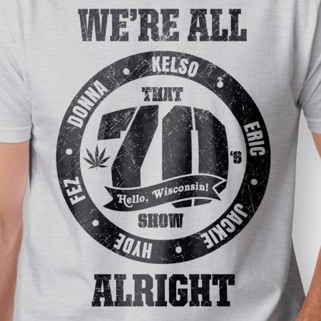 Camiseta That 70s Show Circle Masculina Cinza Mescla Zoom