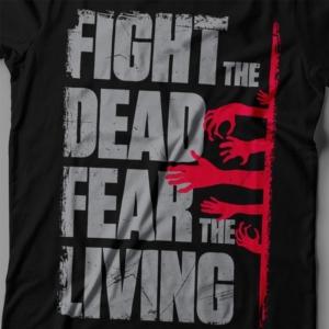 Camiseta The Walking Dead Fear The Living Feminina Zoom