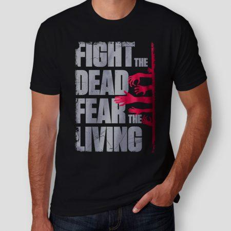 Camiseta The Walking Dead Fear The Living Masculina Cover