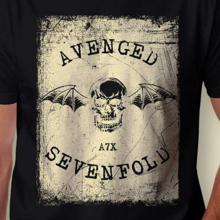 Camiseta Avenged Sevenfold A7x Masculina Zoom
