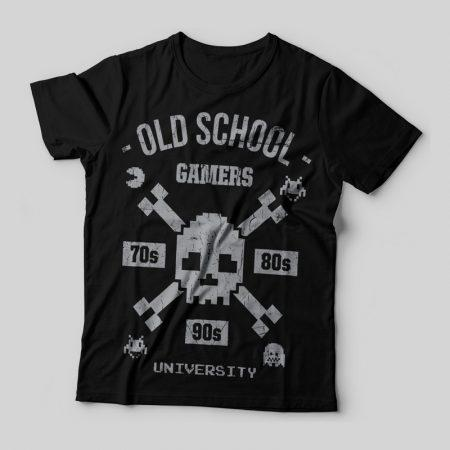 Camiseta old school gamers feminina cover