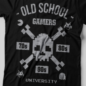 Camiseta old school gamers feminina zoom