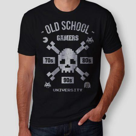 Camiseta old school gamers masculina cover