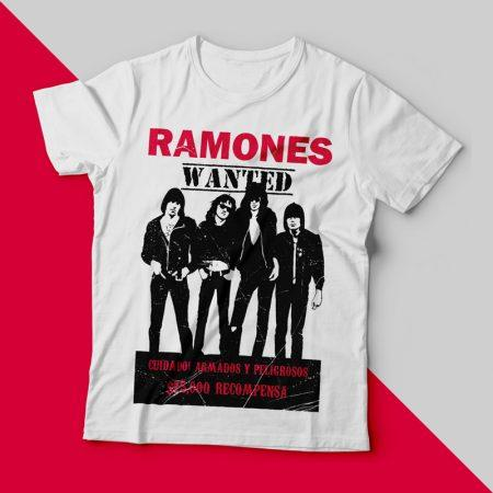 Camiseta ramones wanted feminina cover