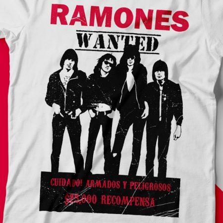 Camiseta ramones wanted feminina zoom