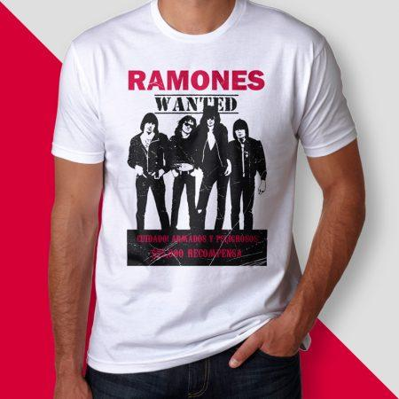 Camiseta ramones wanted masculina cover