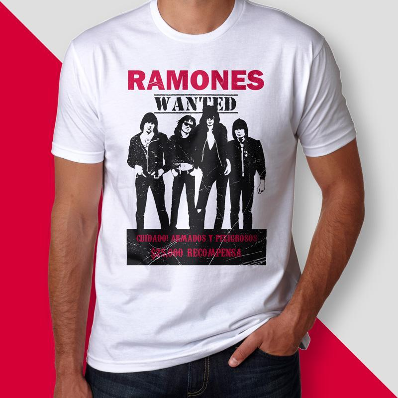 Camiseta ramones wanted masculina cover