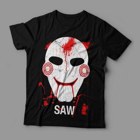 Camiseta Saw Feminina Jogos Mortais Cover