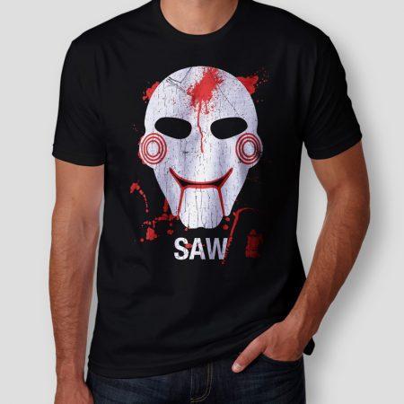 Camiseta Saw Masculina Jogos Mortais Cover