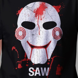 Camiseta Saw Masculina Jogos Mortais Zoom