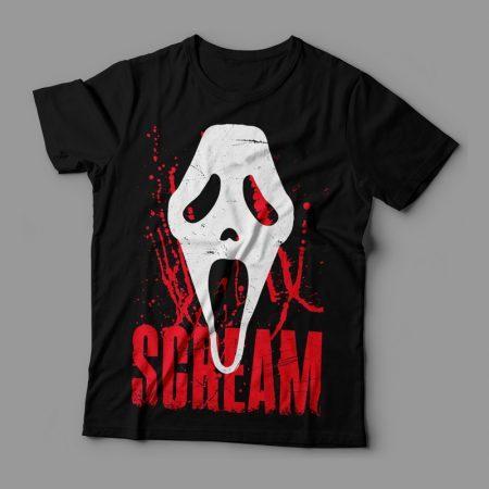 Camiseta Scream Máscara Feminina Cover