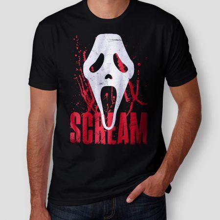 Camiseta Scream Máscara Masculina Cover