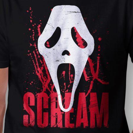 Camiseta Scream Máscara Masculina Zoom