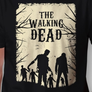 Camiseta the walking dead walkers arte