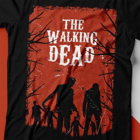 Camiseta the walking dead walkers feminina zoom