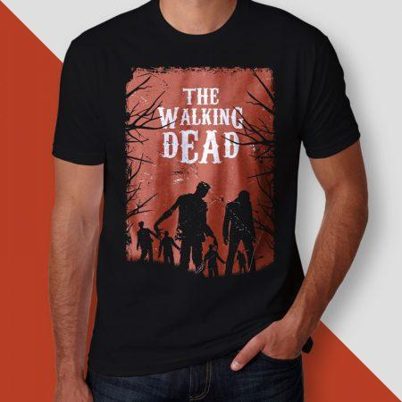 Camiseta the walking dead walkers masculina cover