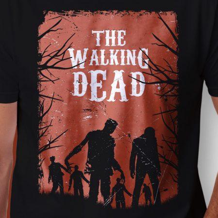 Camiseta the walking dead walkers masculina zoom