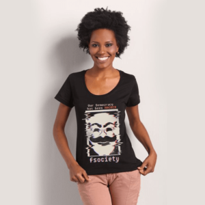 Camiseta Mr Robot Fsociety Feminina Chico Rei